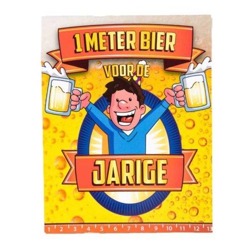 Paperdreams Paperdreams - 1 Meter bier kaart - Jarige