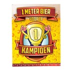 Paperdreams Paperdreams - 1 Meter bier kaart - Kampioen