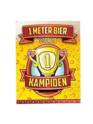 Paperdreams Paperdreams - 1 Meter bier kaart - Kampioen