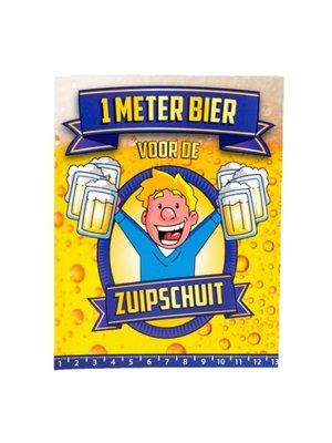 Paperdreams Kaart - 1 Meter bier - Zuipschuit