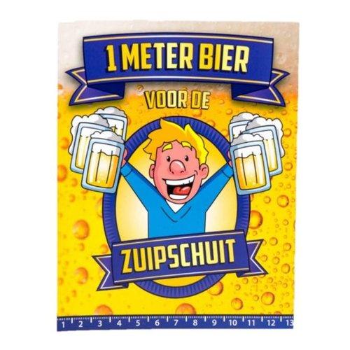 Paperdreams Paperdreams - 1 Meter bier kaart - Zuipschuit
