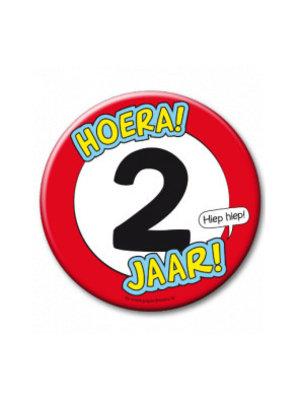 Paperdreams Button - 2 Jaar - Groot