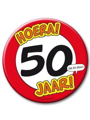 Paperdreams Button - 50 Jaar - Groot