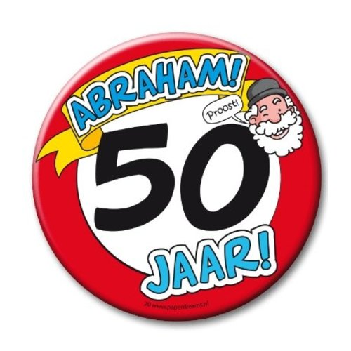 Paperdreams Button - 50 - Abraham - Groot