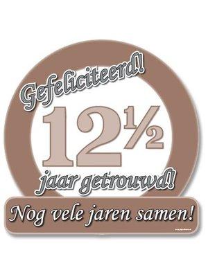 Paperdreams Paperdreams - Huldeschild - Special - 12,5 Jaar getrouwd