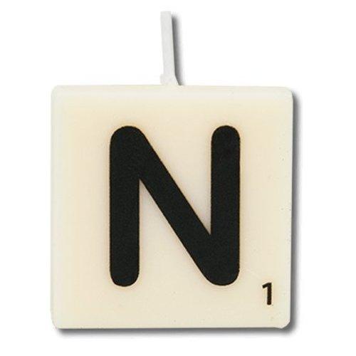 Paperdreams Cijfer- / letterkaarsje - Scrabble - N