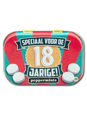 Paperdreams Pepermuntblikje - 18 Jarige - Retro mints