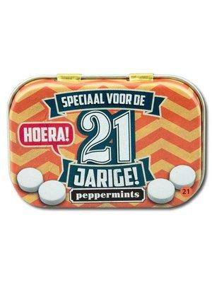 Paperdreams Pepermuntblikje - 21 Jarige - Retro mints