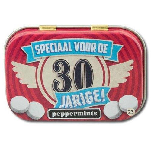 Paperdreams Pepermuntblikje - 30 Jarige - Retro mints
