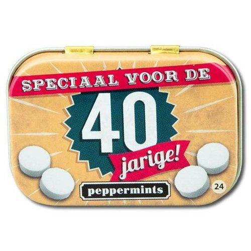 Paperdreams Pepermuntblikje - 40 Jarige - Retro mints