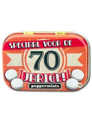 Paperdreams Pepermuntblikje - 70 Jarige - Retro mints