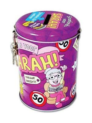 Paperdreams Spaarpot - 50 Jaar - Sarah