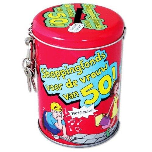 Paperdreams Spaarpot - 50 Jaar - Vrouw