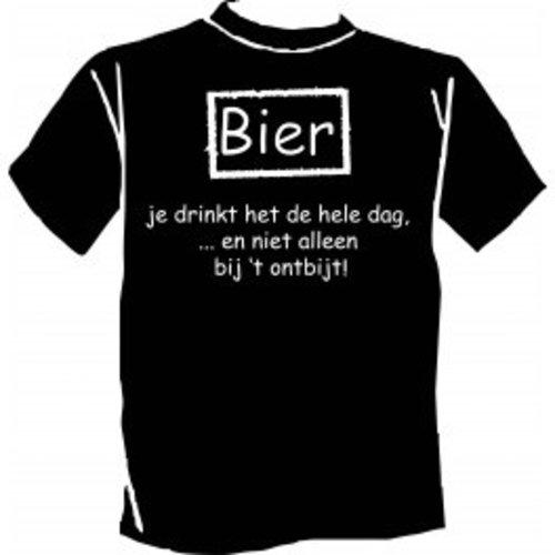 Paperdreams Paperdreams - T-shirt - Bier, je drinkt het de hele dag
