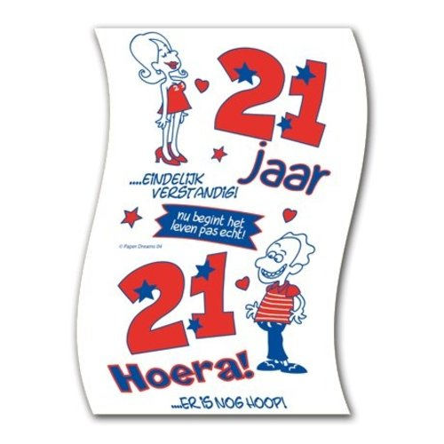 Paperdreams Paperdreams - Toiletpapier - 21 Jaar