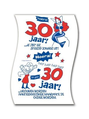 Paperdreams Paperdreams - Toiletpapier - 30 Jaar - Vrouw