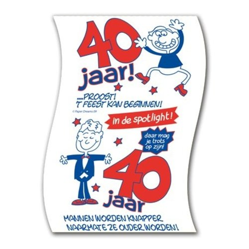 Paperdreams Paperdreams - Toiletpapier - 40 Jaar - Man