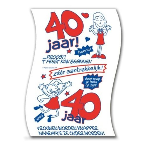 Paperdreams Paperdreams - Toiletpapier - 40 Jaar - Vrouw