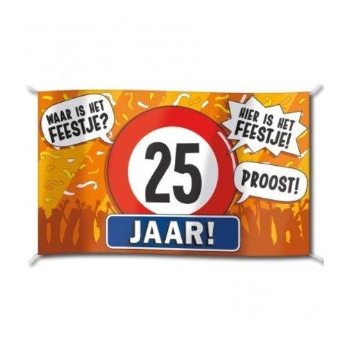 Paperdreams Vlag - 25 Jaar - 150x90cm