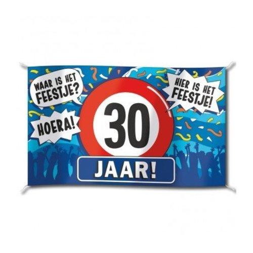 Paperdreams Vlag - 30 Jaar - 150x90cm