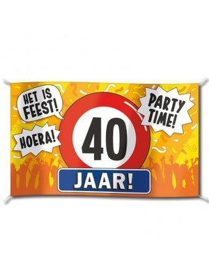 Paperdreams Vlag - 40 Jaar - 150x90cm