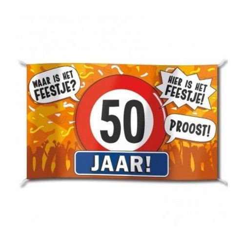 Paperdreams Vlag - 50 Jaar - 150x90cm