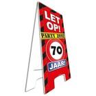 Paperdreams Paperdreams - Warning sign - 70 Jaar