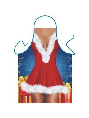 Partychimp Partychimp - Schort - Santa dress - Kerstvrouw