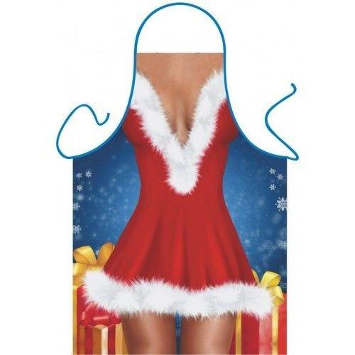 Partychimp Schort - Santa dress - Kerstvrouw