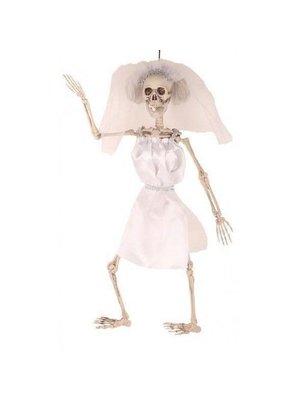 Partychimp Decoratief skelet - Bruid - Hangend - 50cm
