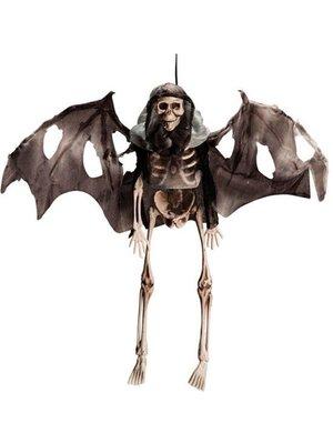 Partychimp Decoratief skelet - Met vleugels - Hangend - 35cm