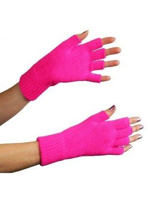 Apollo PartyExplosion - Handschoenen - Vingerloos - Fluor roze