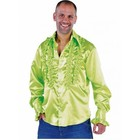 PartyXplosion PartyXplosion - Blouse - Ruches - Grasgroen - XXL - maat 56
