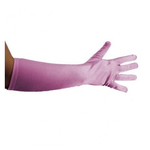 PartyXplosion Handschoenen - Licht roze - Strech - Luxe - 40cm