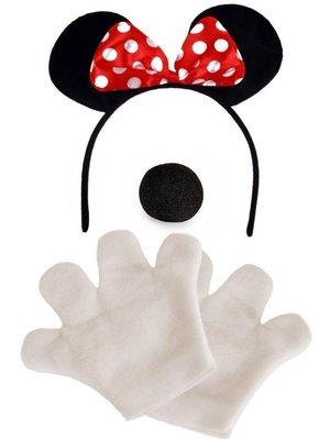 PartyXplosion PartyXplosion - Verkleedset - Minnie mouse - Diadeem, neus & handschoenen