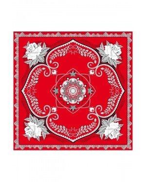 Zakdoek - Bloemen - Rood