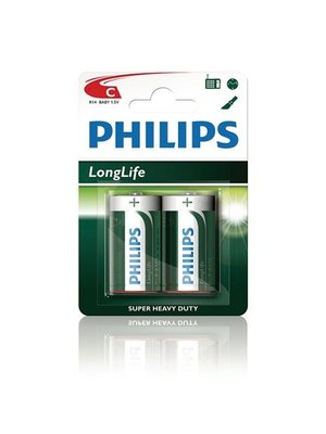 Philips - Batterijen - Longlife - C - 2st.