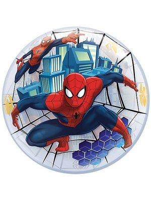 Qualatex Qualatex - Folieballon - Bubble - Ultimate spiderman - Zonder vulling - 56cm