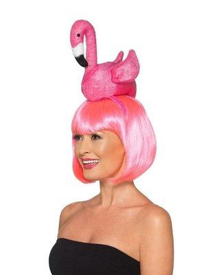 Smiffys Diadeem - Flamingo - Roze