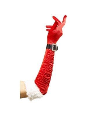 Smiffys Handschoenen - Kerstvrouw - Met riempje