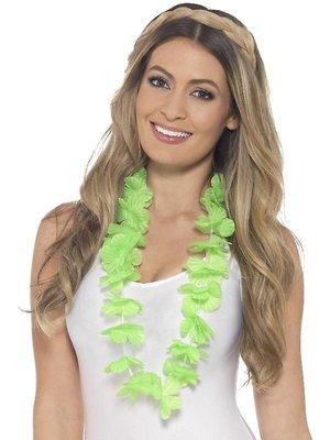 Smiffys Bloemenketting - Hawaii - Groen - Fluor / neon
