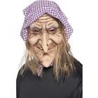 Smiffys Smiffys - Masker - Heks - Met haar & hoofddoek - Latex