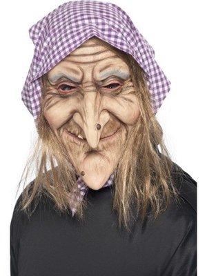 Smiffys Masker - Heks - Met haar & hoofddoek