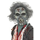Smiffys Smiffys - Masker - Zombie - Rottend - Latex - Grijs
