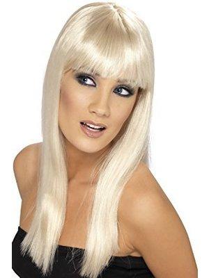 Smiffys Pruik - Blond - Glamourama - Lang