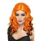 Smiffys Smiffys - Pruik - Krullend - Oranje/zwart