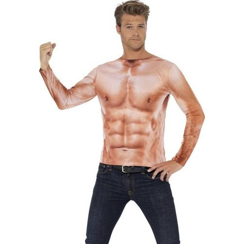 Smiffys T-shirt - Bodybuilder - Mt L