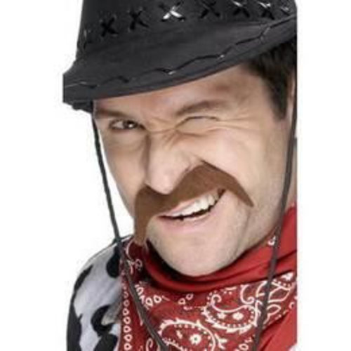 Smiffys Snor - Bruin - Cowboy