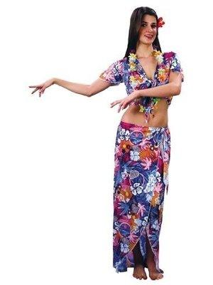 Twisk Kostuum - Jurk - Hawaii - Incl. asseccoires - M/XL