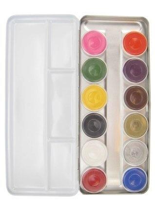 Schminkpalet - Basic - Bright colors - Aqua - 12dlg.